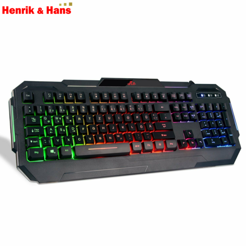 Rii RK903 USB Gaming Tastatur farbige Tastenbeleuchtung Gaming keyboard Deutsch