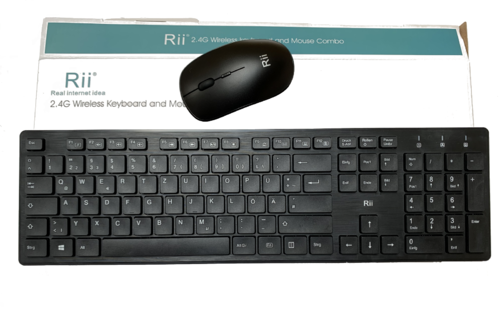 Rii RK200 Revision 2020 Kabellos Tastatur Maus Set Wireless Keyboard Mouse Combo Deutsch